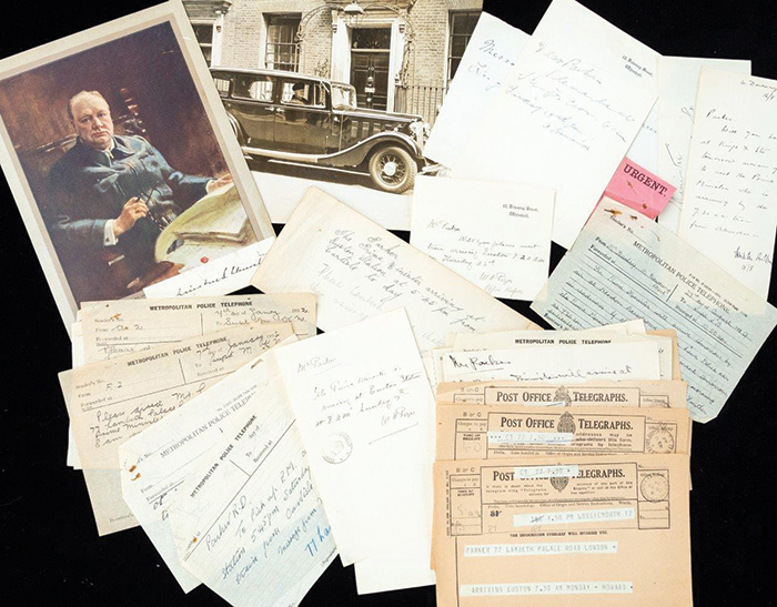 The collection belonged to Reginald Parker, who worked as a chauffeur for five prime ministers, most notably Winston Churchill. Image: Hansons Auctioneers.
