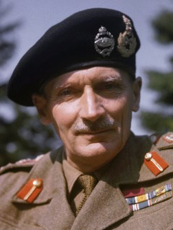 Field-Marshal Bernard Law Montgomery (1887-1976), commander of 21st Army Group.