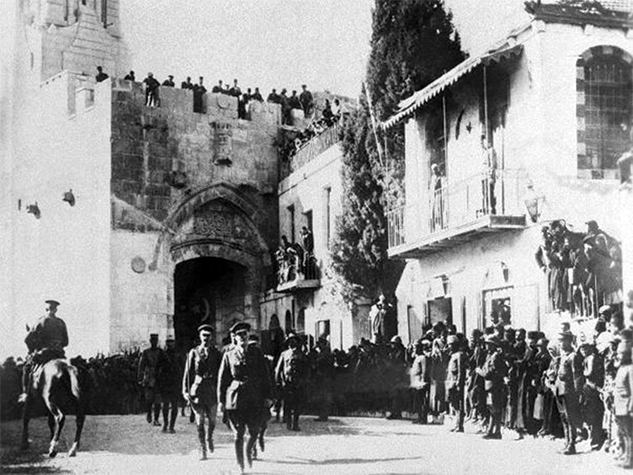Allenby at the gates of Jerusalem, 1917. He had been instructed to take the city before Christmas that year, and he did.