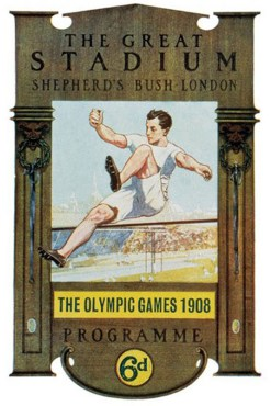 Cover of a programme from the 1908 Olympic Games in London. It was here that Halswelle secured gold, albeit in controversial circumstances.