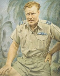 Sketch of Truscott, made around 1957. The redhead was both war hero and sporting icon in his native Australia.
