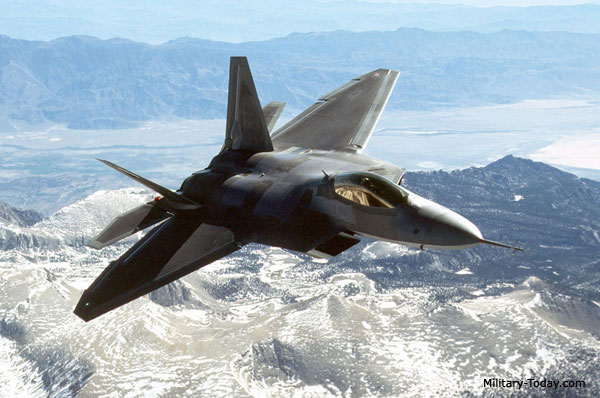 F-22 Raptor em http://www.military-today.com