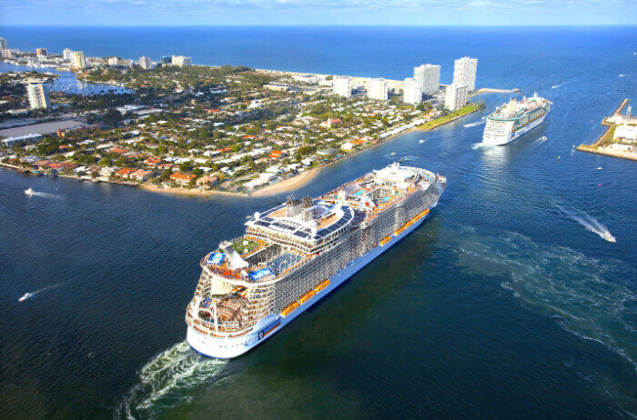 Royal Caribbean cruise military and veteran discount Harmoney Of The Seas Leaving Florida