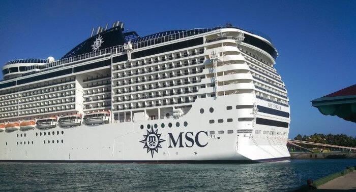 MSC Ship At Nassau Caribbean