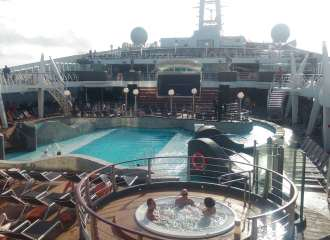 MSC Divina Pool Deck