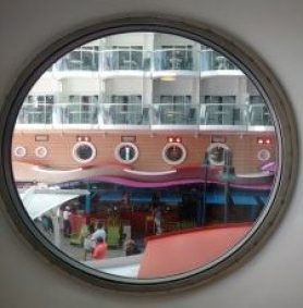 Porthole View of the Boardwalk