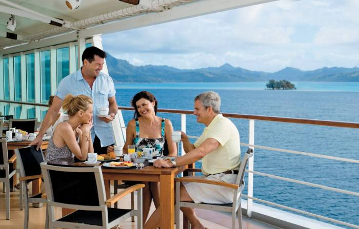 Cruise Line Gratuities for your waiter are paid at the end of the trip!