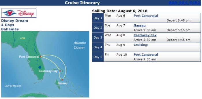 Disney Cruises with Military Discounts Disney Dream August 6