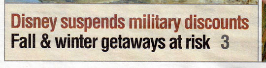 Military Disney Tips Quoted in Military Times Newspapers