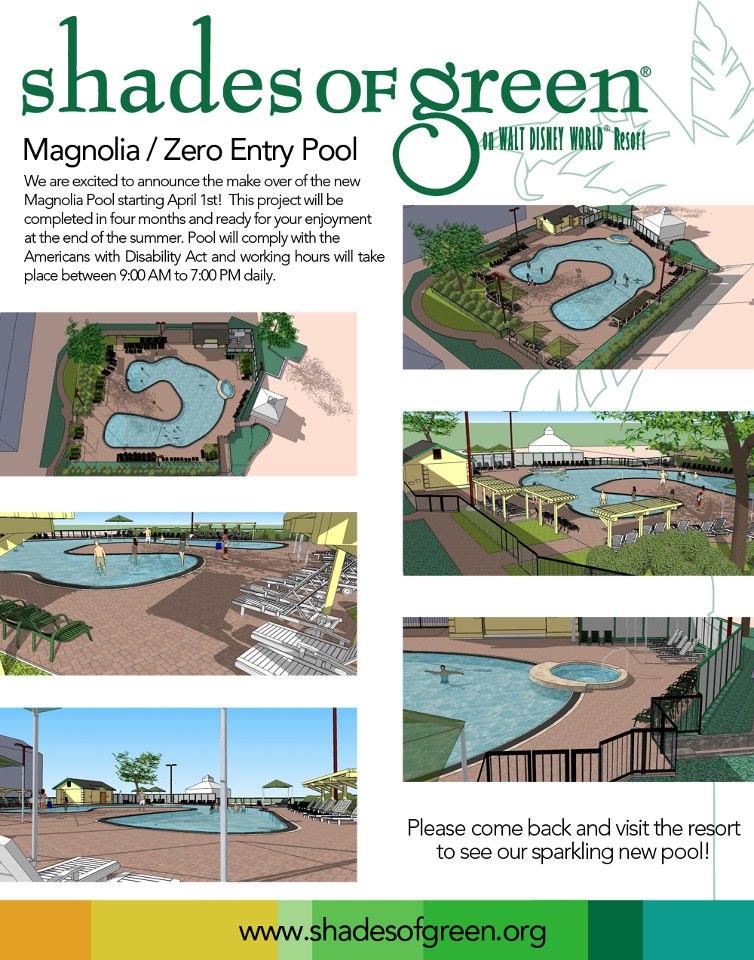 shades of green announces magnolia pool closure military disney tips blog. Black Bedroom Furniture Sets. Home Design Ideas