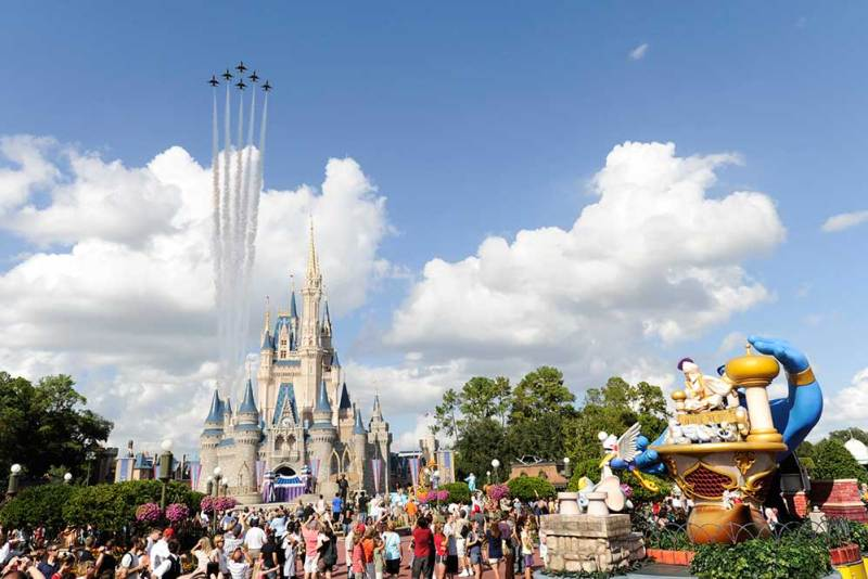Thunderbirds over the Magic Kingdom