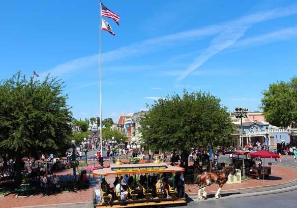 Disneyland's daily Flag Retreat