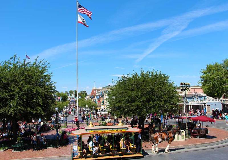 Disneyland's daily Flag Retreat