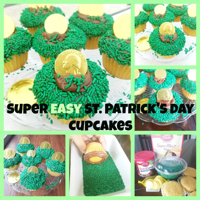 Super Easy St. Patrick's Day Cupcakes