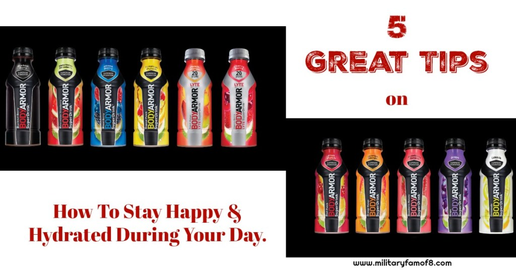 How To Stay Happy & Hydrated During Your Day.