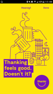 Saying Thank You is Just a Fingertip Away with The Thankr App