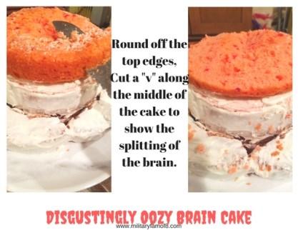 Disgustingly Oozy Brain Cake