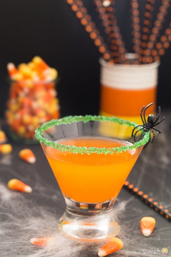 Candy Corn Martini Spooky Halloween The Spookiest Halloween Drink Recipes Ever!