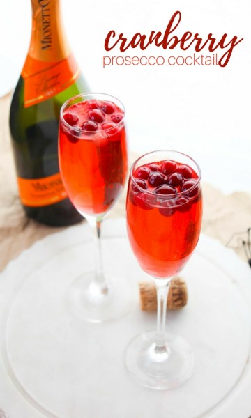 Cranberry Ginger Mimosa Ultimate List of Holiday Cocktail & Mocktail Recipes