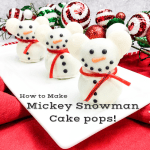 How to Make Mickey Snowman Cake pops! If you are bored with the same cake pop look, this post is going to be your new favorite go-to recipe! Learn how to make these adorable Mickey snowman cake pops!