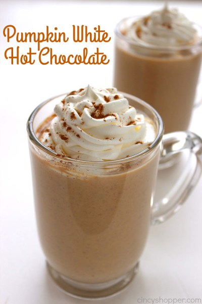 Pumpkin White Hot Chocolate The Ultimate List of Holiday Cocktail & Mocktail Recipes. With over 50 recipes to choose from and constantly adding more, you will never be short of ideas! If you are hosting a Holiday Party or are enjoying a night in with a Hallmark movie, you are sure to find the right drink for the occasion in this post. Cheers!