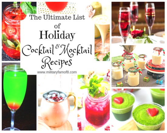 Ultimate List of Holiday Cocktail & Mocktail Recipes