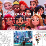 Ralph Breaks the Internet Printable and Coloring Pages. Free pages from the 2nd Wreck-it Ralph movie. #printable #freeprintable #disney #RalphBreaksTheInternet