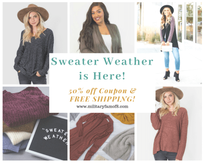 Sweater Weather is Here and I am Here for it! With a 50% off coupon code for Cents of Style and free shipping, this is a fashion deal you don't want to miss!