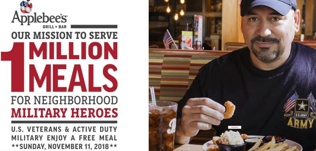 Free Meal for our Heroes on Veteran's Day- Veterans Eat Free