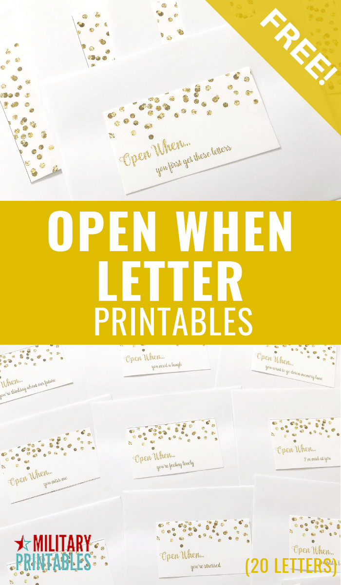 picture relating to Open When Letters Printable called No cost Confetti Open up Each time Letters Printable
