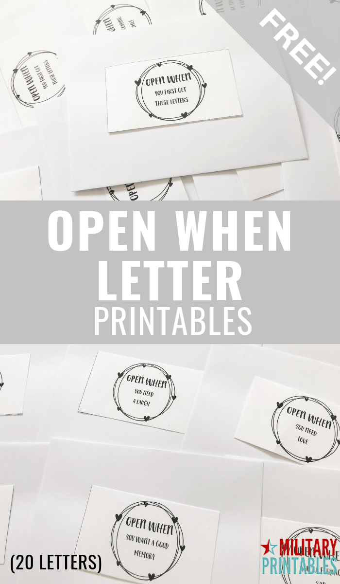 picture relating to Open When Letters Printable identified as Free of charge Middle Wreath Open up Although Letters Printables
