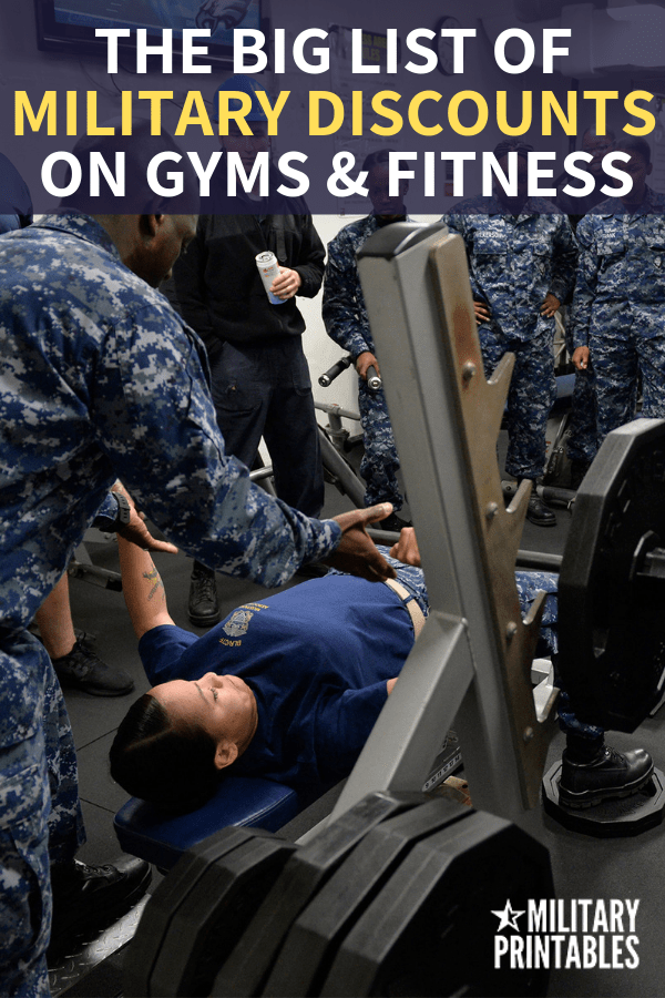 The Best Health and Fitness Military Discounts for Gym Lovers #militarydiscount #military #militarydiscounts #militarylife