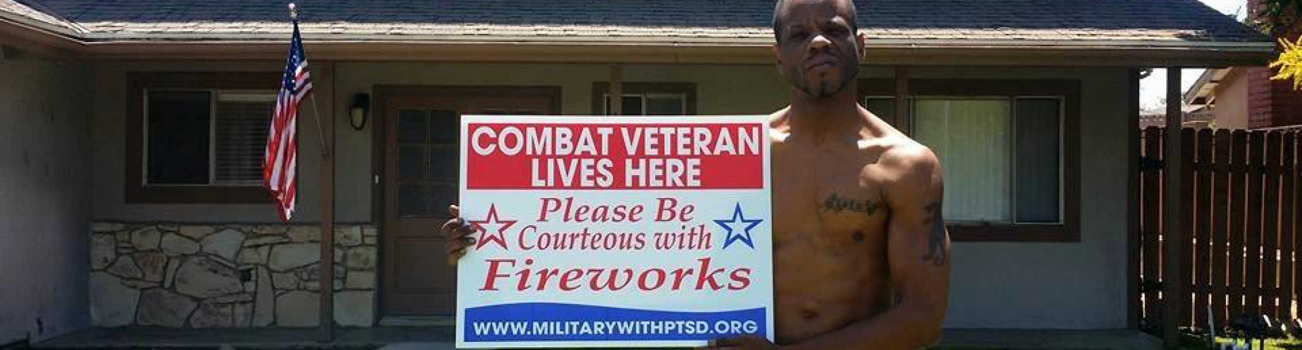 Combat Veteran Lives Here
