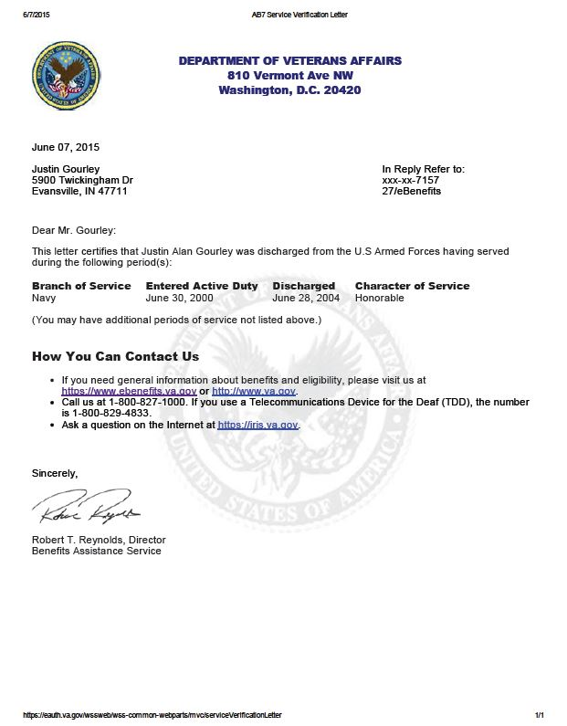 justin_gourley_service verification letter