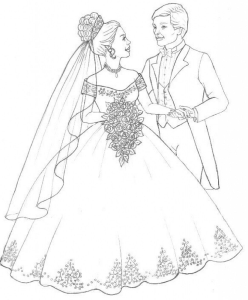 Coloring page marriage