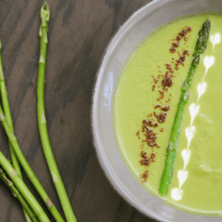 asparagus and leek soup