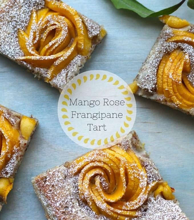 Mango Rose Frangipane Tart