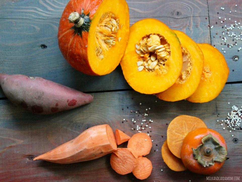 Pumpkin Kale Salad And Pumpkin Quinoa Sweet Potato Baby Food