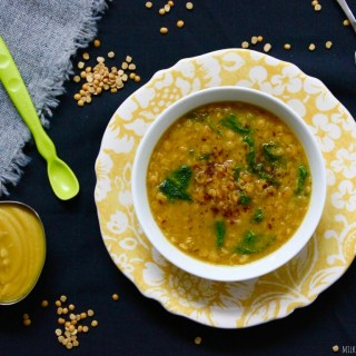 Split Pea and Turmeric Soup and Baby Food Puree