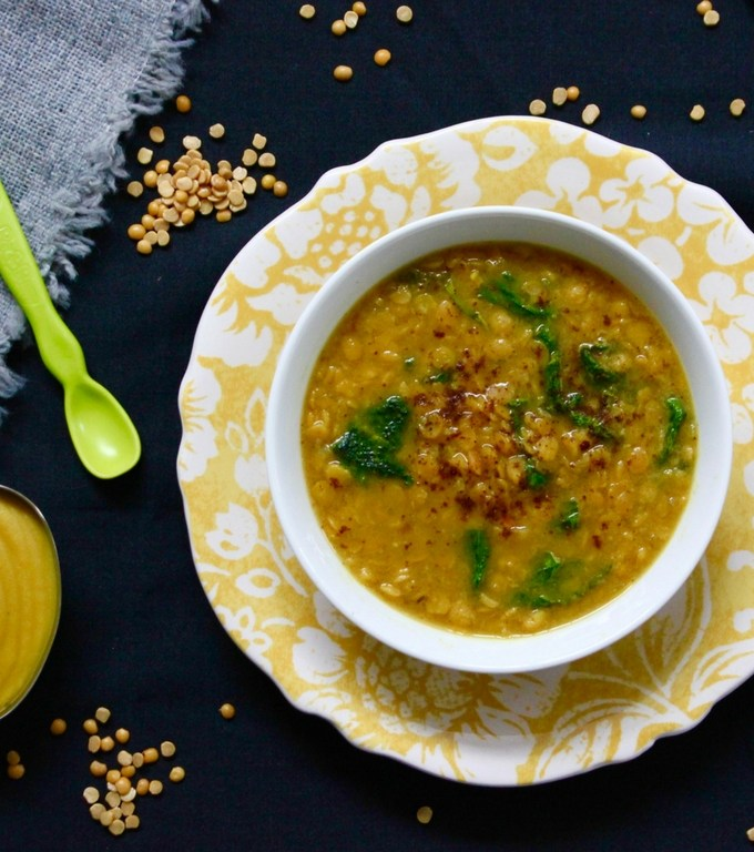 Family Meal – Split Pea and Turmeric Soup & Baby Food
