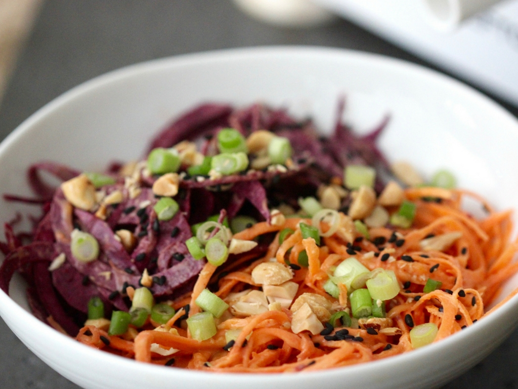 Sweet Potato Noodles with Sesame Dressing