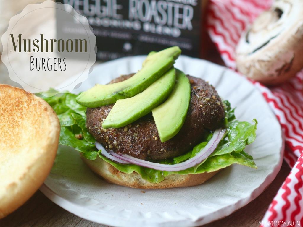 Cheese Stuffed Mushroom Burger