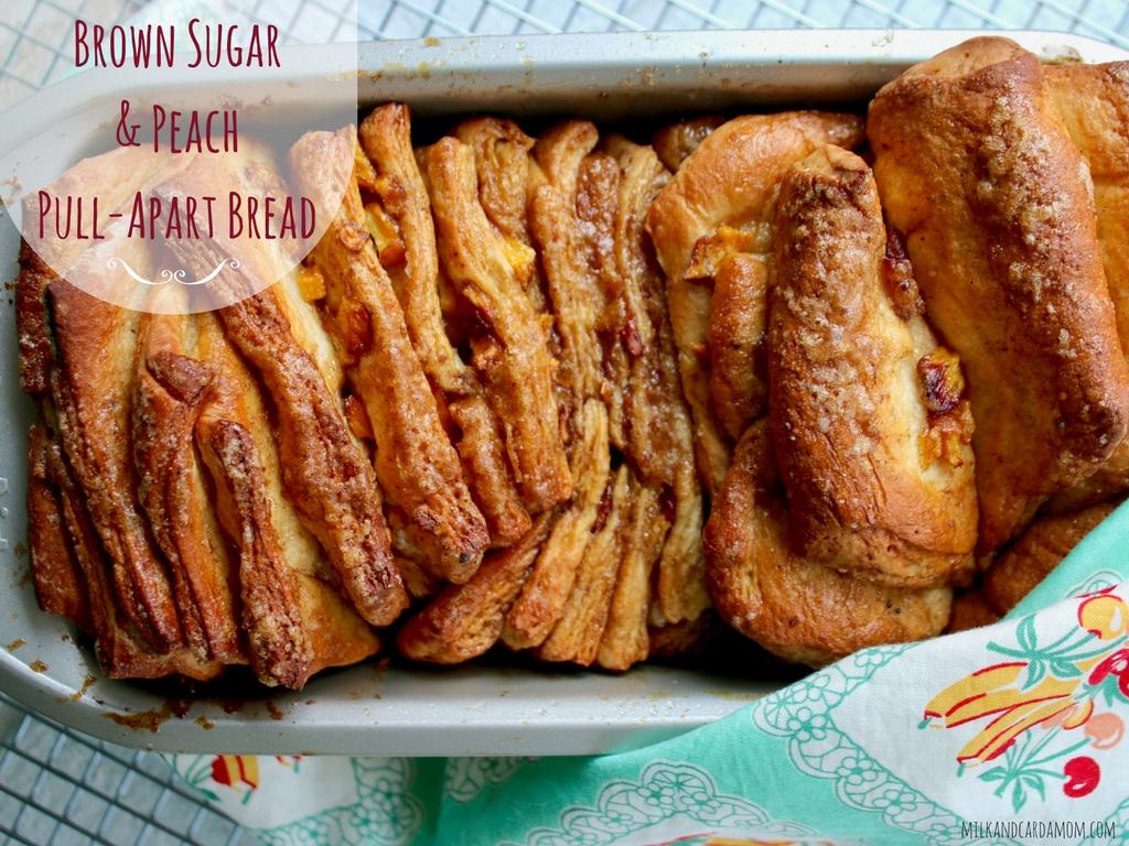 Brown Sugar & Peach Pull-Apart Bread
