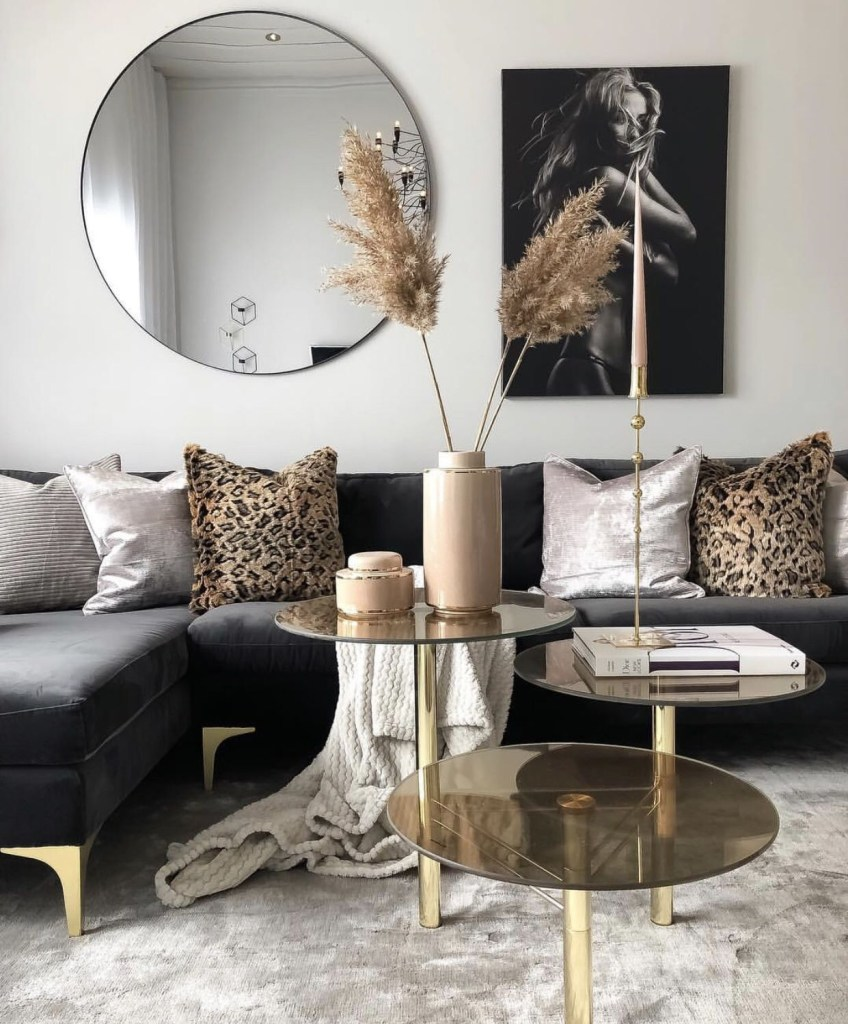 black and gold living room gold living room black and