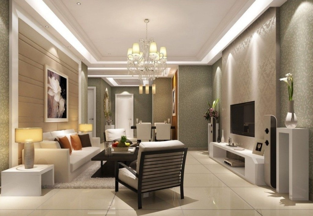 luxury living room with contemporary chandelier design ideas