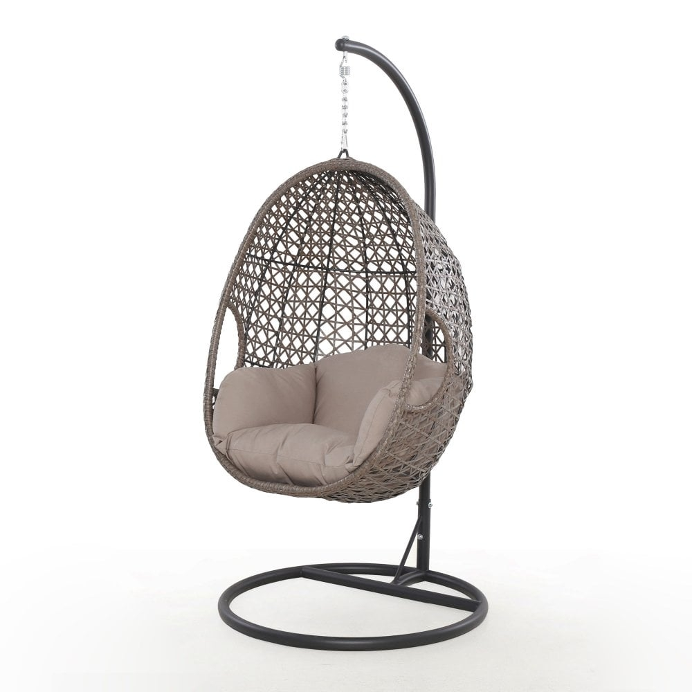 maze rattan harrogate single hanging chair