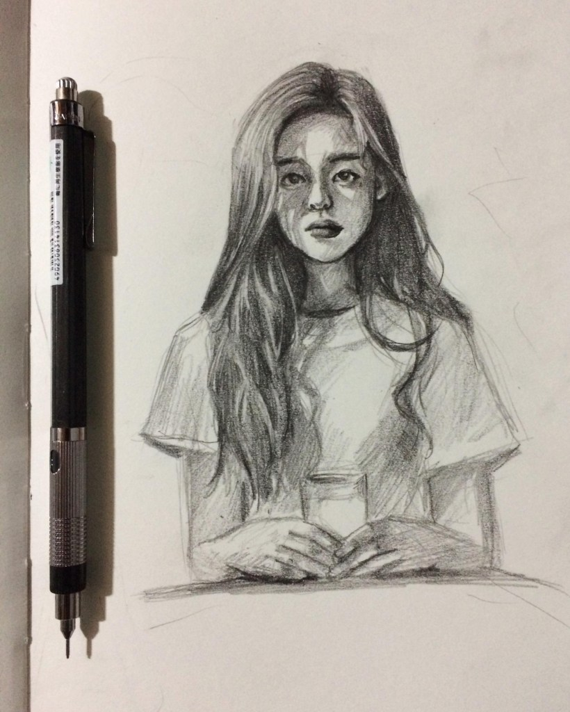 mechanical pencil sketch drawing