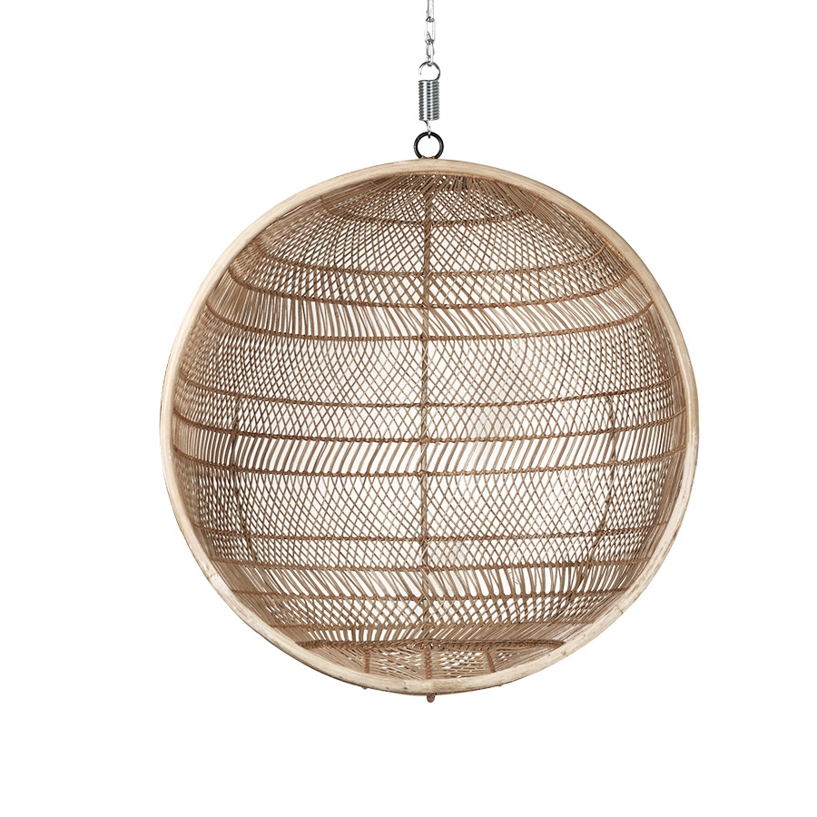 rattan hanging chair bal natural bohemian