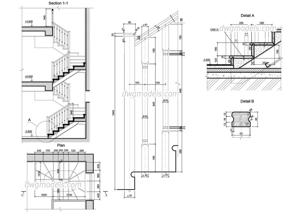 wooden staircase autocad drawings free download cad blocks