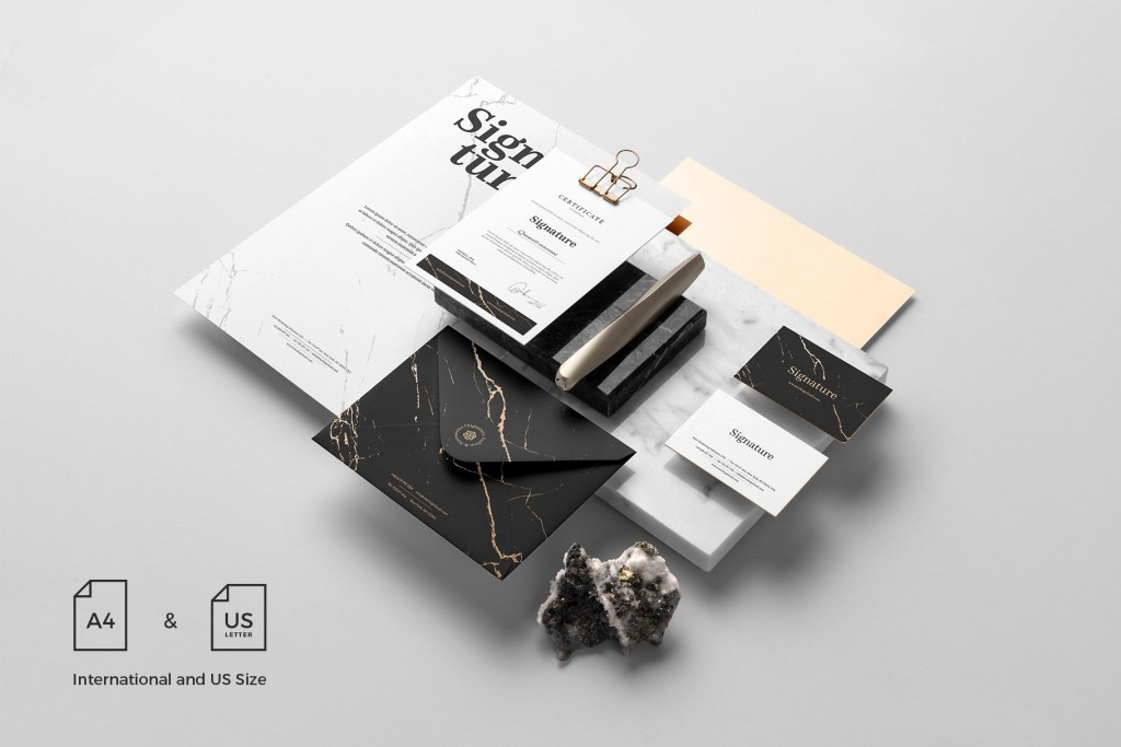 10 awesome stationery branding mockup